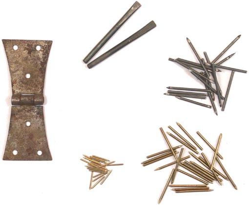 Various types of hardware hand-made by usHandheld Harpsichord
