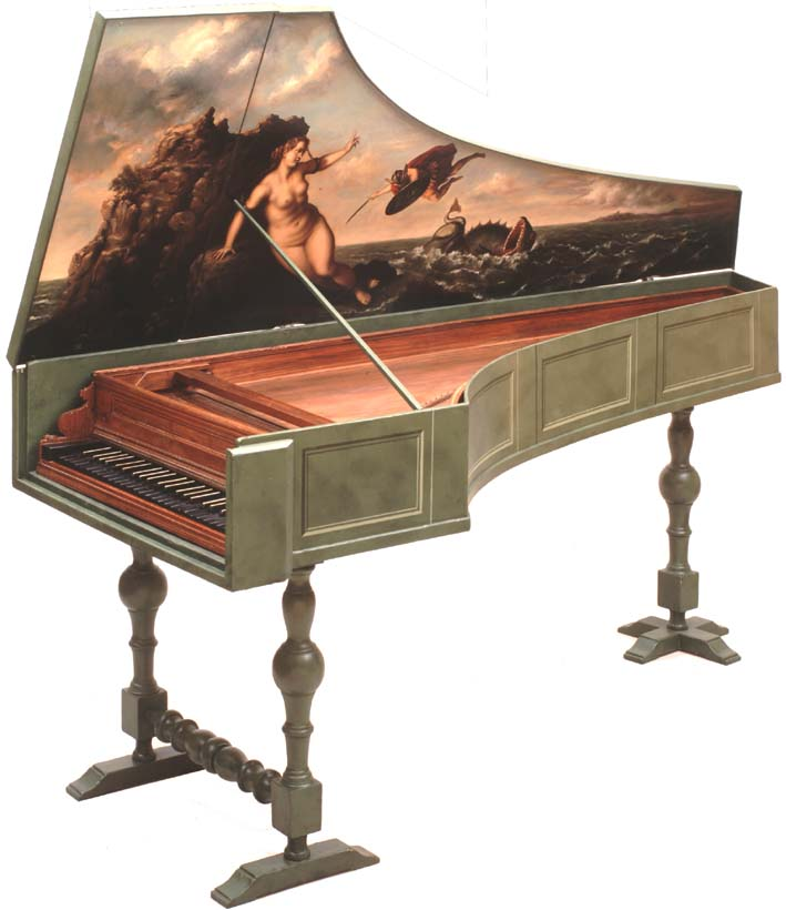 Anonymous Neapolitan harpsichord, property of Grant O'Brien